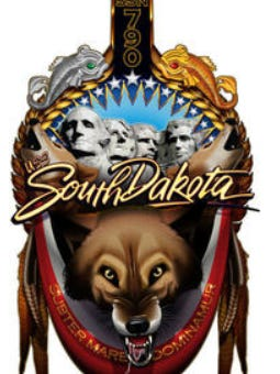 The new crest that was chosen for the USS South Dakota submarine, which is expected to be ready by January 2018.