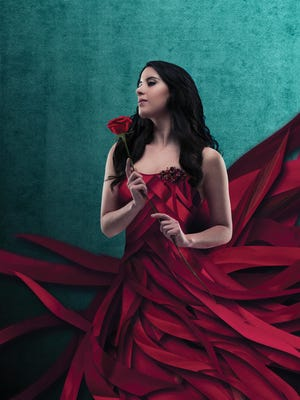 "Milwaukee Ballet artist Alana Griffith models a look for next season's ""Beauty and the Beast."""