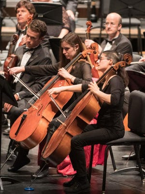 Akron Symphony Orchestra cellist Erica Snowden-Rodriguez, far right, will perform at a you-pick event Saturday at St. Vincent-St. Mary's flower garden.