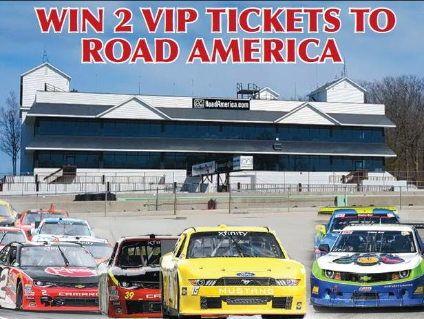"Enter for a chance to win 2 VIP ""Turn 14 Experience"" tickets for August 25th race.  Enter 7/17 – 8/17."