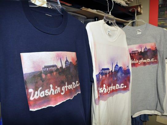 T-shirts with Trae Steele's original artwork on them