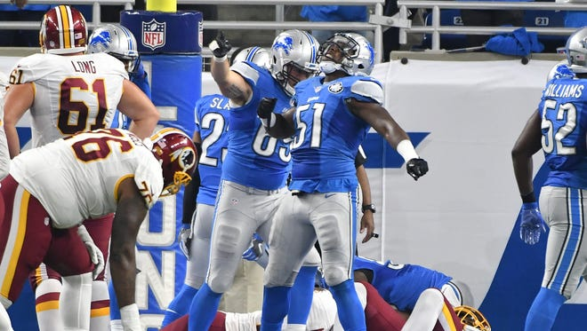 The Lions are 3-point underdogs to the Texans on Sunday.