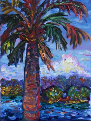 """""""Matanzas Palm"""" is one of the new paintings included in the show when Julie Bowland's """"Vibrant Realities"""" opens Friday with a reception at Venvi Art Gallery."""