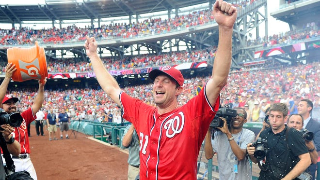 Max Scherzer tossed a no-hitter against the Pirates in June.
