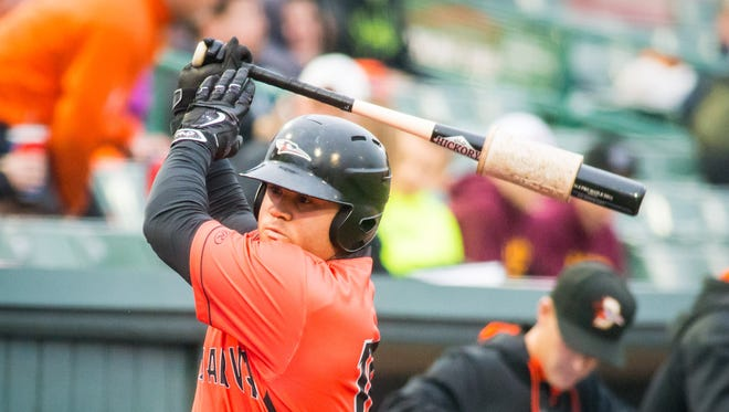 Delmarva Shorebirds' outfielder D.J. Stewart was the Orioles first overall selection in the 2015 MLB Draft.