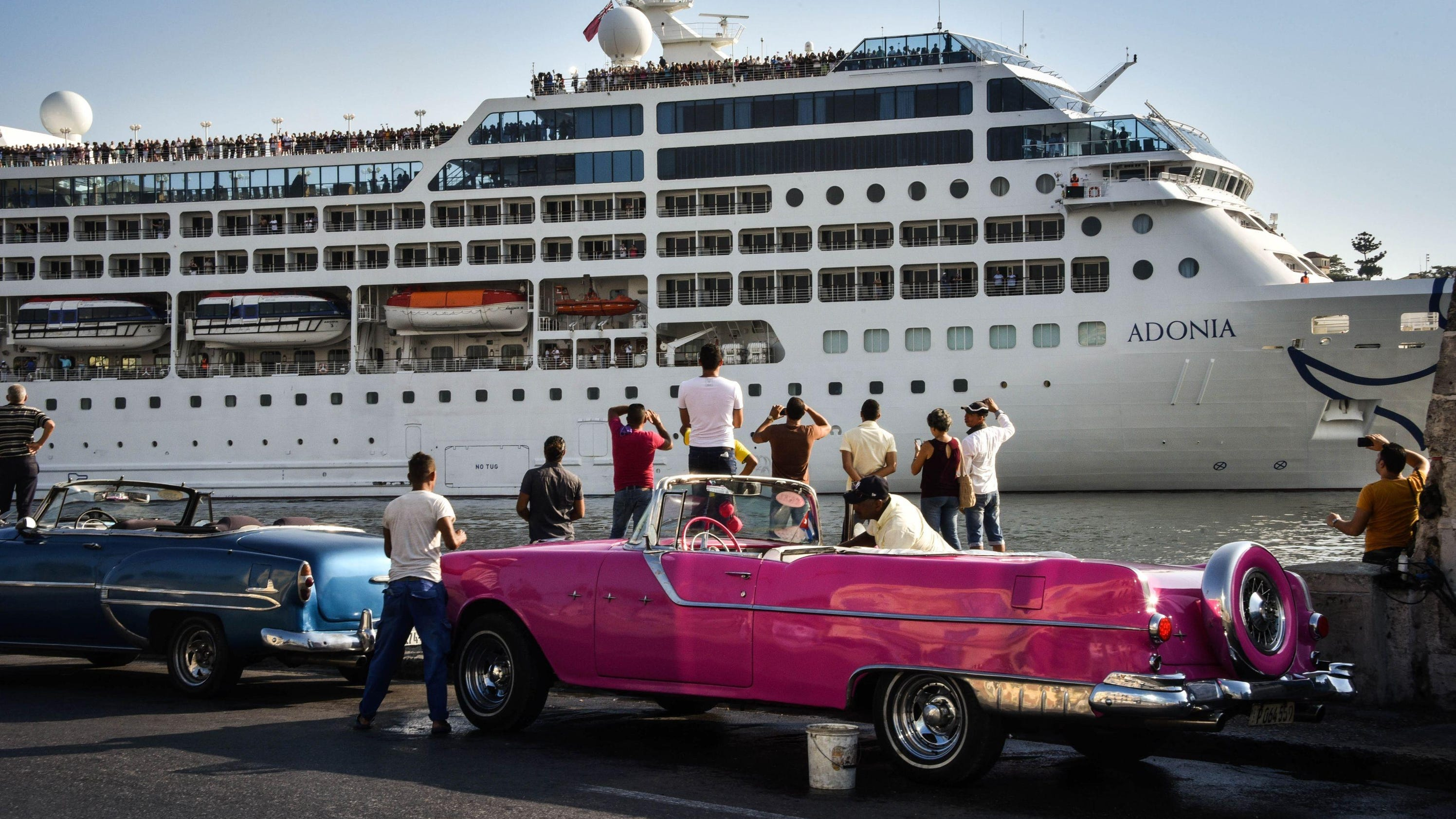 First US Cruise In Decades Arrives In Havana - Adonia cruise ship