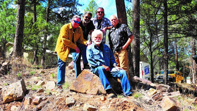 Members of the Brunch Bunch as Jamie Estes, seated, and from left, Dave Millsap, Pete Davis, Bud Hewitt, and Sam Shackelford.