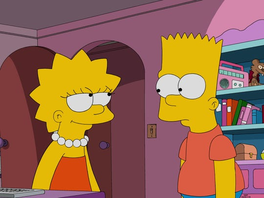 Lisa and Bart Simpson were Google stars in 2001.