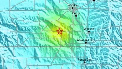 The magnitude-4.8 earthquake was centered in  south-central Kansas, near the Oklahoma border.