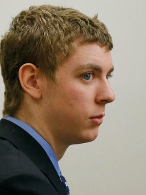 FILE -  In this March 30, 2015, file photo, Brock Turner appears in the Palo Alto, Calif., branch of Santa Clara County Superior Court court for a status hearing. The former Stanford University swimmer convicted of sexually assaulting an unconscious woman is poised to leave jail Friday, Sept. 2, 2016, after serving half a six-month sentence that critics denounced as too lenient. (Gary Reyes  /San Jose Mercury News via AP, File)