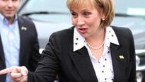 Guadagno in a speech launching her campaign for the Republican gubernatorial nomination didn't mention the party's standard-bearer