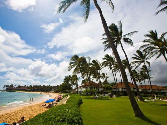 Poipu is the most popular beach on Kauai's South Shore
