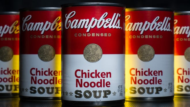 FILE - In this Wednesday, Jan. 8, 2014, file photo, cans of Campbell's soup are photographed in Washington. Campbell Soup Co. reports financial results Friday, May 20, 2016. (AP Photo/J. David Ake, File) ORG XMIT: NYBZ501