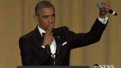 "Barack Obama said ""Obama out"" to end speech."