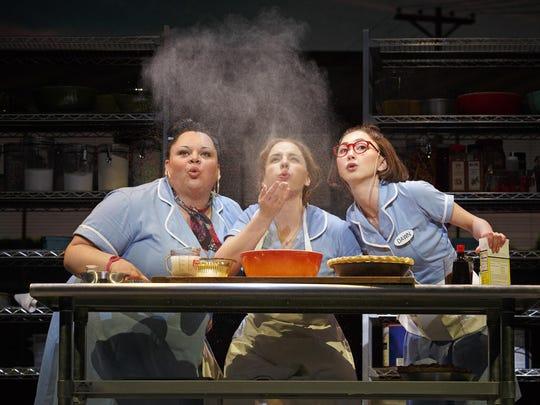 """Keala Settle (left to right), Jessie Mueller and Kimiko Glenn star in """"Waitress."""""""