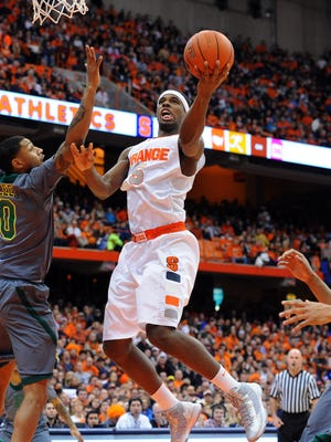 C.J. Fair (5) had 13 points and eight rebounds for No. 2 Syracuse.