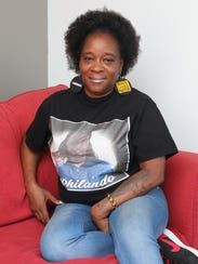 Tonia Conner of Yonkers became politically active in 2016. The mother and grandmother is the founder of 100Sistas. Here she is in her office in Yonkers.