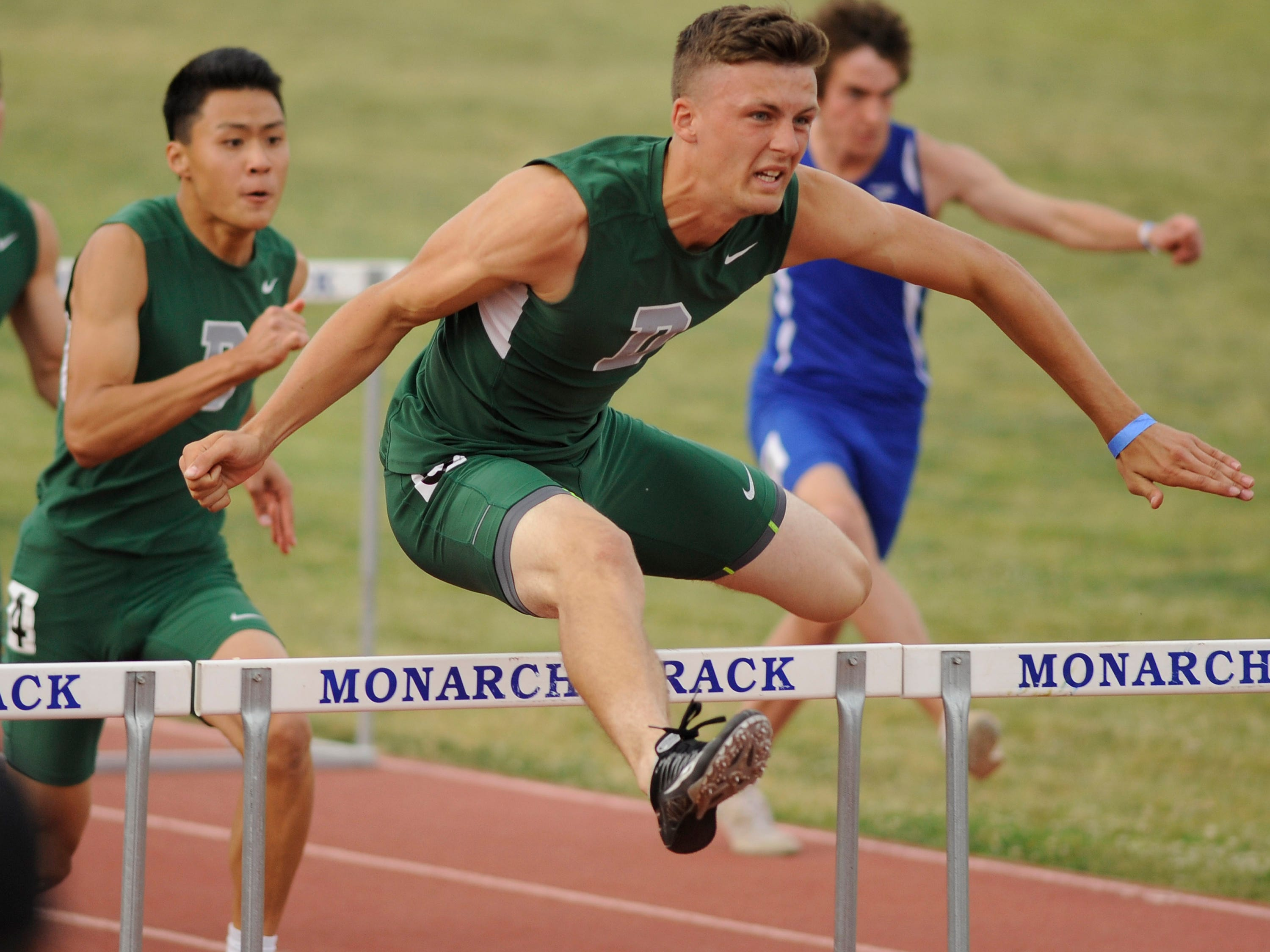 Dinuba's Isaac Leppke is ranked No. 1 in the Central Section in the boys' 110-meter high hurdles. The Central Section Championships are Saturday in Clovis.