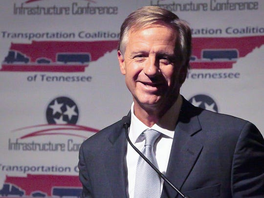 Gov. Bill Haslam talks Tuesday in Murfreesboro about