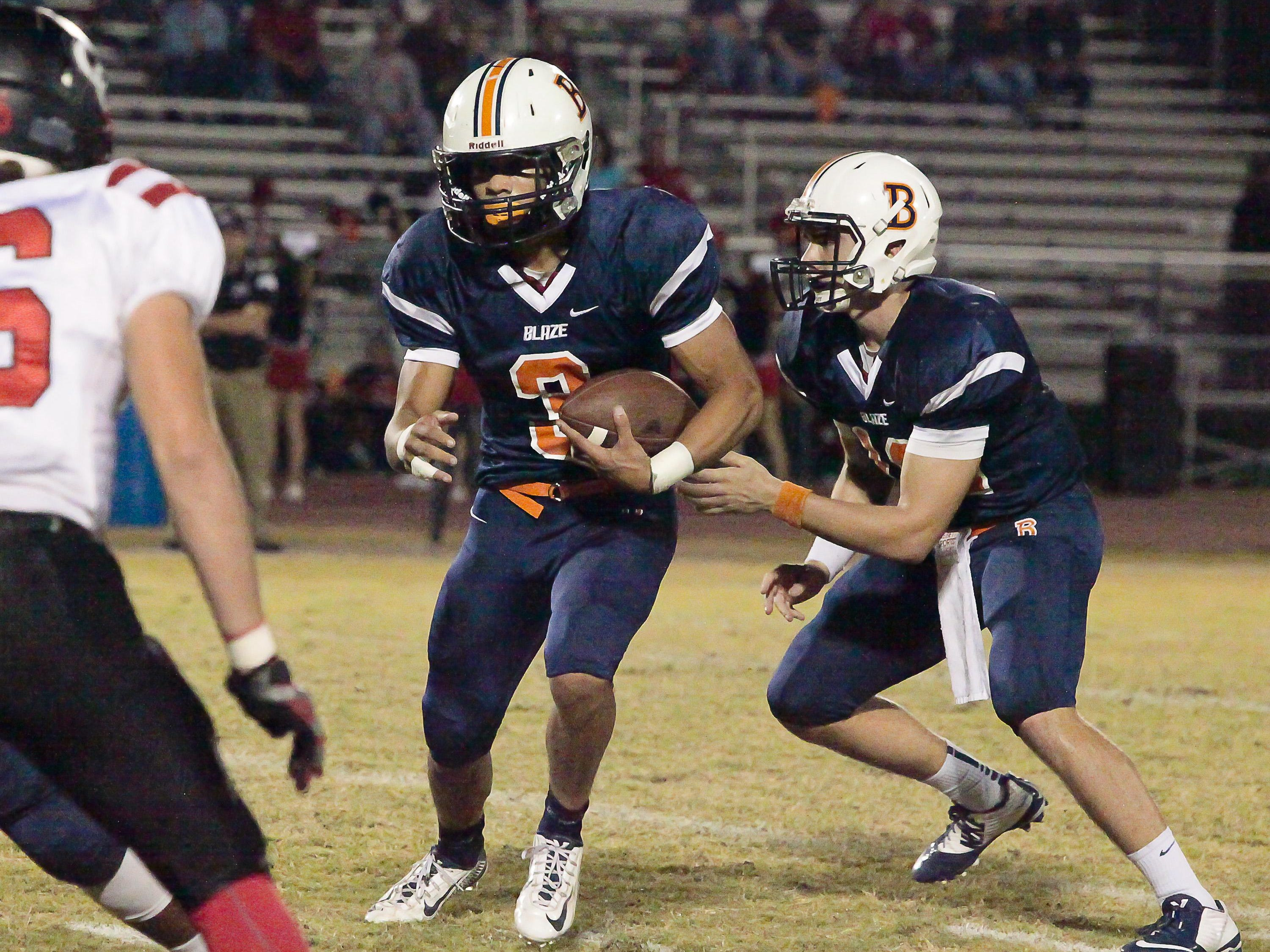 Blackman's Taeler Dowdy (3) had four touchdowns against Coffee County.