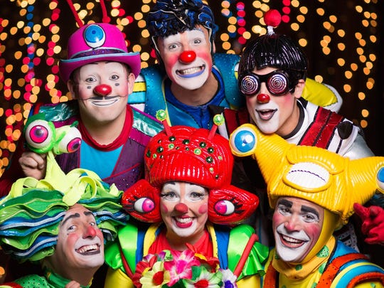 "Clowns in ""Out of this World,"" at Ringling Bros. and Barnum & Bailey Circus"
