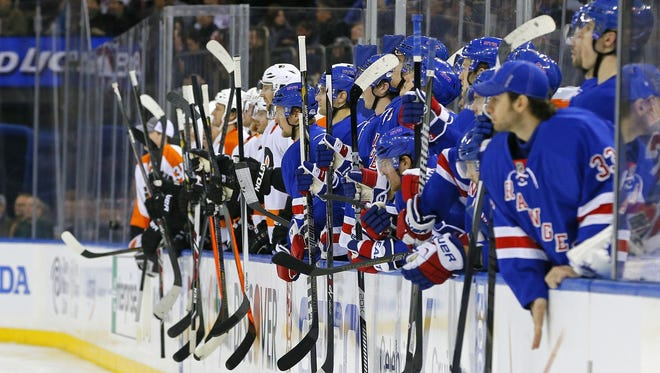 The Flyers and Rangers split the season series at two apiece.