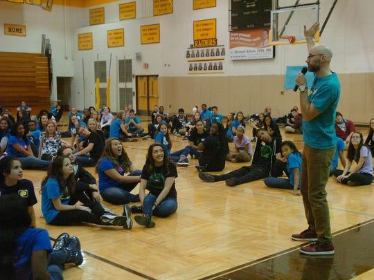 North Farmington teacher Kevin Ozar facilitated the recent leadership forum at North Farmington High School.