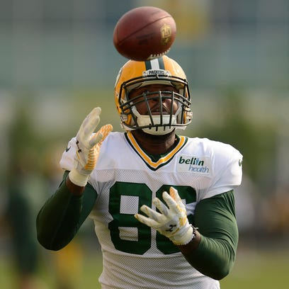 Green Bay Packers tight end Brandon Bostick.