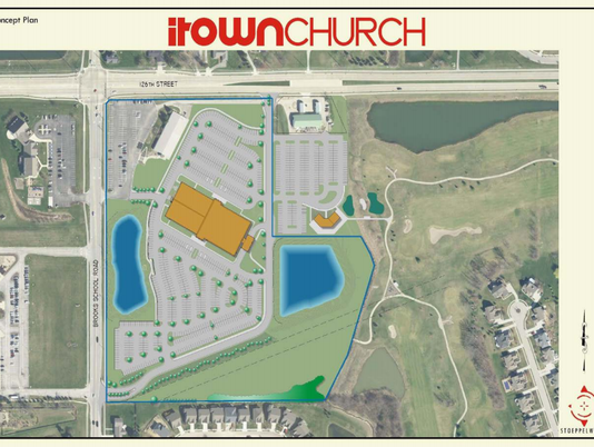 iTown Church map