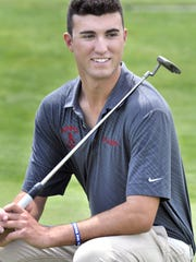 Golfer Matt Pulgini, at Back Creek Golf Club near Middletown Saturday May 14, 2016.  He's the News Journal's athlete of the week.  Gary Emeigh/Special For The News Journal