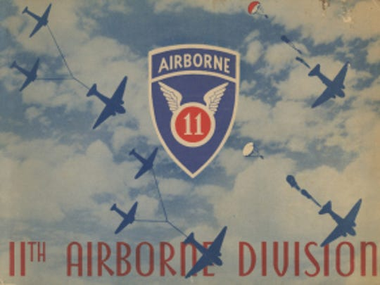 The 11th Airborne Division yearbook cover