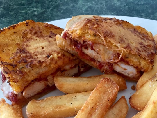 A piazza chicken melt at the original Bully's in Northwest Reno is like chicken Parm on bread.
