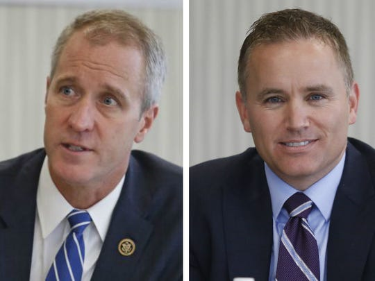 U.S. Rep. Sean Patrick Maloney, left, and Republican  challenger Republican Oliva are both vying for New York's 18th U.S. Congressional District.