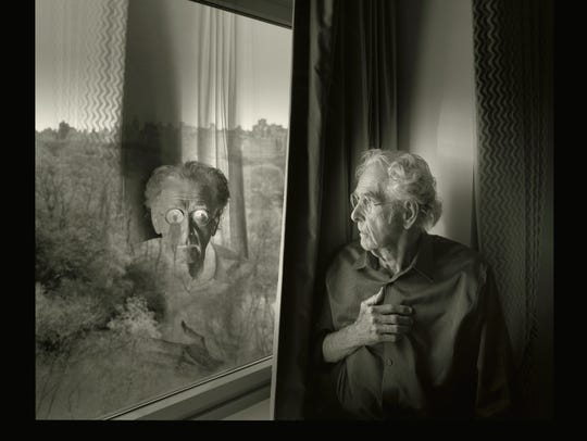 "Jerry Uelsmann's self portrait ""Questions of Self"""
