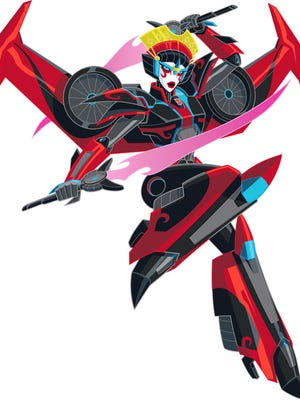 """The female Autobot Windblade will soon make her debut on """"Transformers: Robots in Disguise."""""""