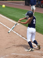 Chambersburg's Taylor Myers pops a hit up during a