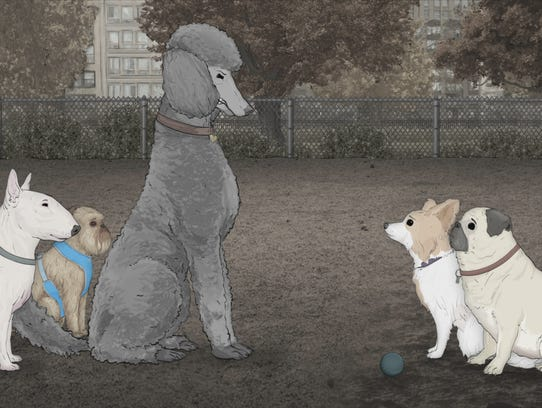 The dog park is like a prison yard for the 'Dogs' of