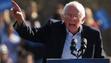 Bernie Sanders speaks at a rally in New York on April