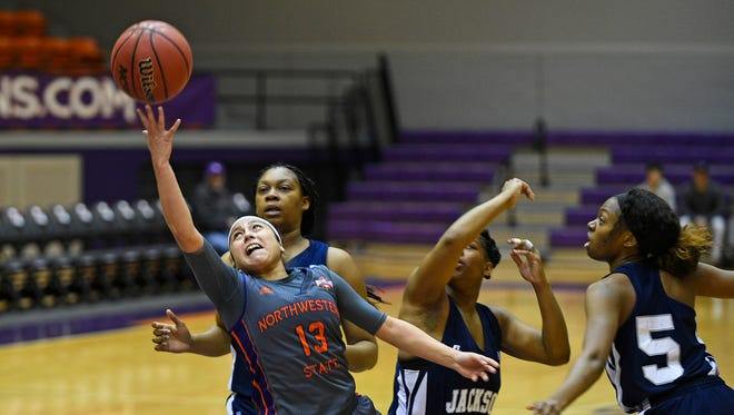 Northwestern State's  Janelle Perez is the LSWA Women's Basketball Player of the Week.