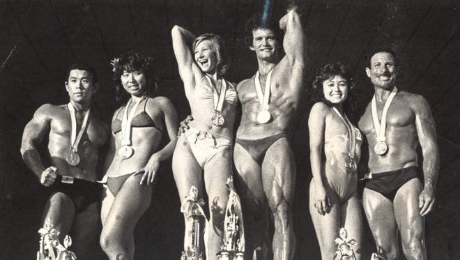 In first place are Benny Crawford and Michelle Frazier; second, Takeyoshi Tsakamoto and Kazue Kata; third, Ruben Candiotti and Patty Kerkos. Photo archive date Jan. 4, 1982.