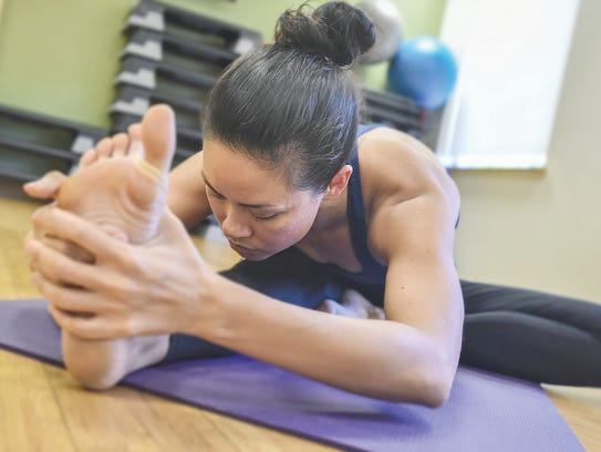 JenniferMcFerran shows off a stretch.