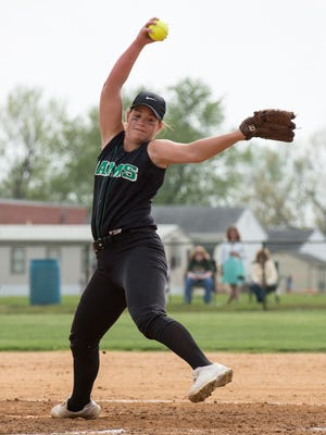 Parkside's Maggie Cannon, delivers a pitch during a game against Mardela on Monday, April 25, 2016.