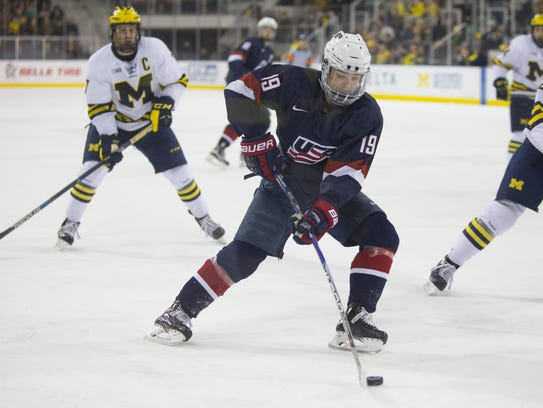 Among players vying for a spot on the U.S. World Juniors