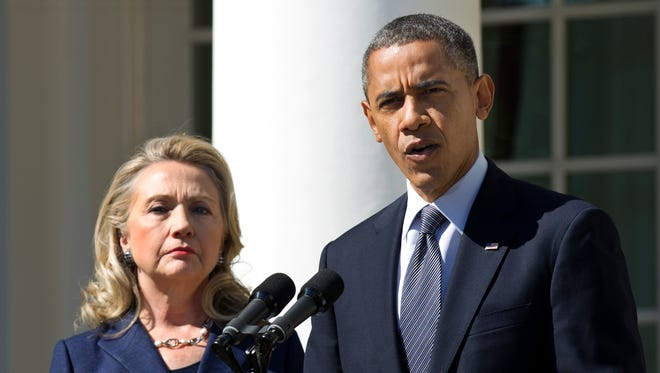 Hillary Clinton and President Obama are seen in this 2012 photo.