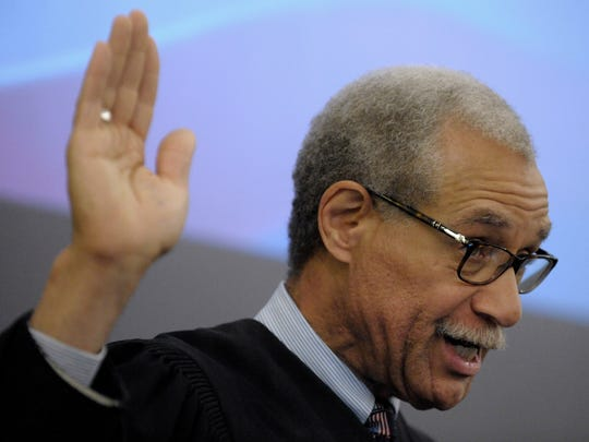 Eastern District Judge Gershwin A. Drain swears in 41 people from 19 countries as naturalized citizens.