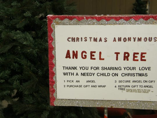 Angels with the children's names will be hanged on