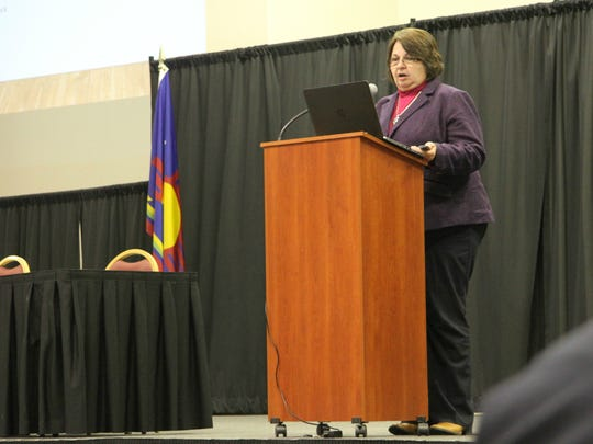 Caren Cowen, executive director of New Mexico Cattle Growers' Association, urges ranchers to have their voice heard with state and federal officials about issues.