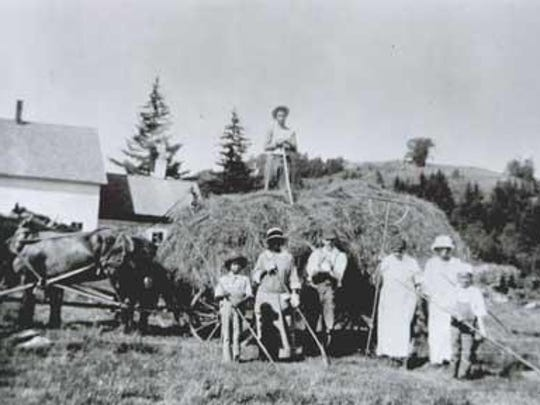 Haying on Turner Hill, circa 1925