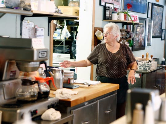 Jeannie Nicolakis is the owner of Sparky's Diner in Garnerville.