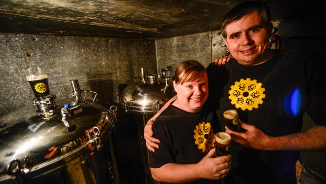 Kristen Lyons and Jason Gardner, who wed in 2000, will open Binghamton Brewing Co. in Johnson City this Saturday, Aug. 16.
